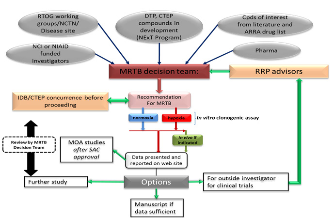 MRTB Radiation Modifiers Evaluation Program Process
